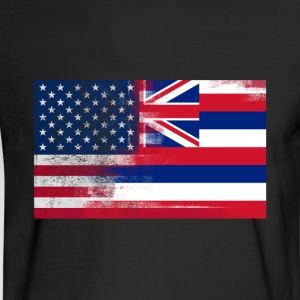Hawaii American Flag Fusion - Men's Long Sleeve T-Shirt