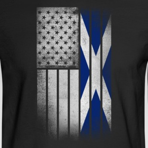 Scottish American Flag - Half Scottish Half Americ - Men's Long Sleeve T-Shirt