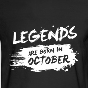 Legends are born in October - Men's Long Sleeve T-Shirt