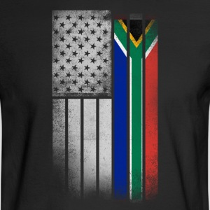 South African American Flag - Men's Long Sleeve T-Shirt
