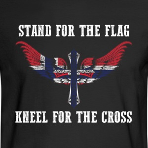 Stand for the flag Norway kneel for the cross - Men's Long Sleeve T-Shirt
