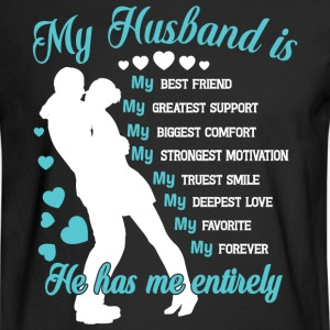 My Husband Is My Best Friend T Shirt - Men's Long Sleeve T-Shirt