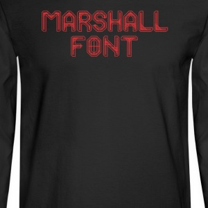 Marshall font - Men's Long Sleeve T-Shirt