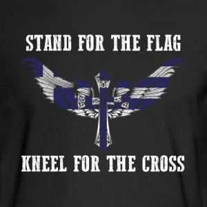 Stand for the flag Greece kneel for the cross - Men's Long Sleeve T-Shirt