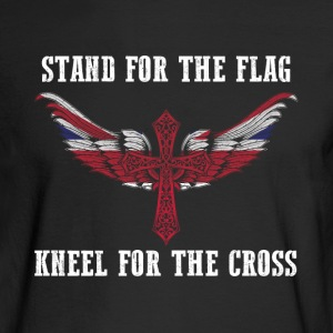 Stand for the flag UK kneel for the cross - Men's Long Sleeve T-Shirt