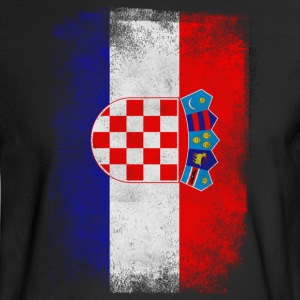 Croatia Flag Proud Croatian Vintage Distressed - Men's Long Sleeve T-Shirt
