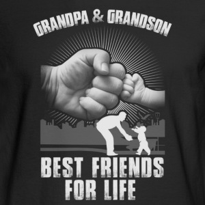GrandPa and Grandson Best Friends For Life T-Shirt - Men's Long Sleeve T-Shirt