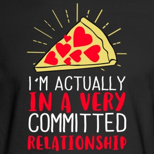 I´m actually in a very committed relationship - Men's Long Sleeve T-Shirt