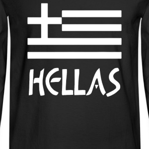 Greece Hellas Greek Flag - Men's Long Sleeve T-Shirt
