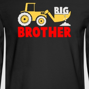 Big Brother Gift for Tractor Loving Boys - Men's Long Sleeve T-Shirt