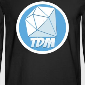 Dan TDM Logo Diamond - Men's Long Sleeve T-Shirt