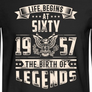 Life Begins At Sixty The Birth Of Legends tshirt - Men's Long Sleeve T-Shirt