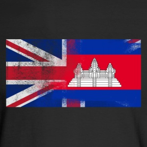 British Cambodian Half Cambodia Half UK Flag - Men's Long Sleeve T-Shirt