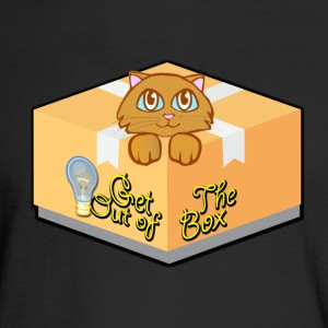 Get Out of The Box Meow T-shirt - Men's Long Sleeve T-Shirt