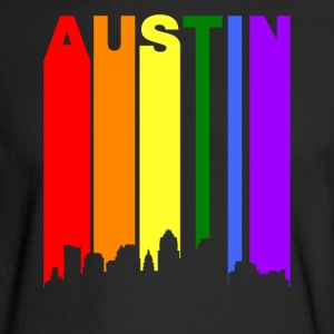 Austin Texas Rainbow Skyline LGBT Gay Pride - Men's Long Sleeve T-Shirt