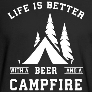 Life is Better with a Beer and a Campfire - Men's Long Sleeve T-Shirt