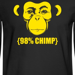 98 percent Chimp Darwin Evolution - Men's Long Sleeve T-Shirt