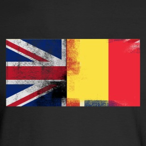 British Belgian Half Belgium Half UK Flag - Men's Long Sleeve T-Shirt