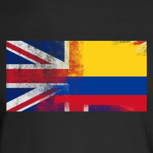 British Colombian Half Colombia Half UK Flag - Men's Long Sleeve T-Shirt