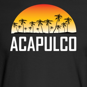 Acapulco Mexico Sunset And Palm Trees Beach - Men's Long Sleeve T-Shirt