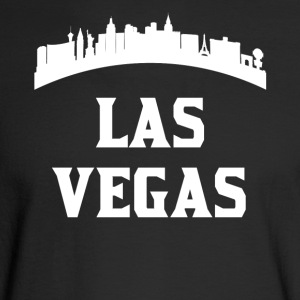 Vintage Style Skyline Of Las Vegas NV - Men's Long Sleeve T-Shirt