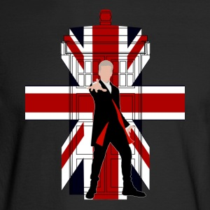 Union Jack British Flag with Doctor - Men's Long Sleeve T-Shirt