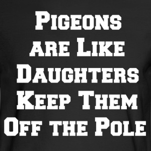 pigeon daughters white - Men's Long Sleeve T-Shirt