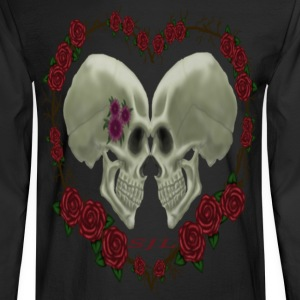 LOVE SKULLS ROSES - Men's Long Sleeve T-Shirt