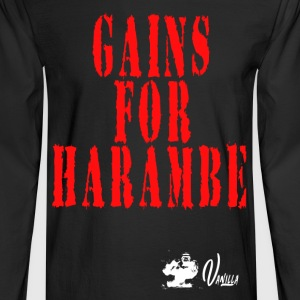 Gains for Harambe - Men's Long Sleeve T-Shirt