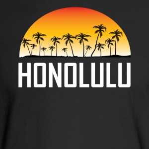 Honolulu Hawaii Sunset And Palm Trees Beach - Men's Long Sleeve T-Shirt