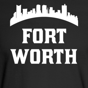 Vintage Style Skyline Of Fort Worth TX - Men's Long Sleeve T-Shirt