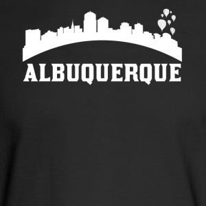 Vintage Style Skyline Of Albuquerque NM - Men's Long Sleeve T-Shirt