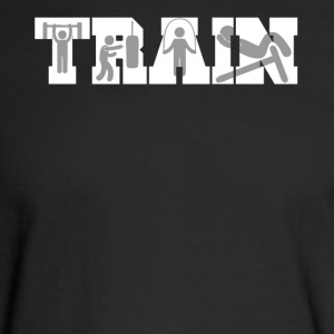 Train Fitness Silhouettes Training - Men's Long Sleeve T-Shirt
