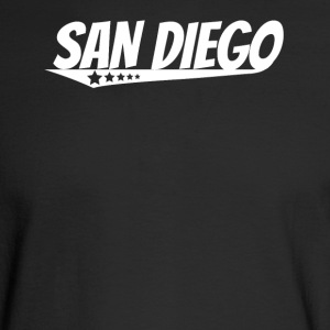 San Diego Retro Comic Book Style Logo - Men's Long Sleeve T-Shirt
