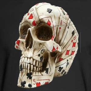 Skull poker - Men's Long Sleeve T-Shirt