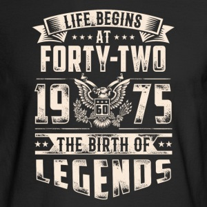 Life Begins At Forty Two Tshirt - Men's Long Sleeve T-Shirt