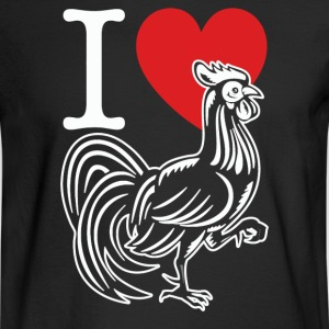 I HEART LOVE COCK - Men's Long Sleeve T-Shirt
