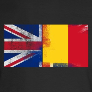 British Romanian Half Romania Half UK Flag - Men's Long Sleeve T-Shirt