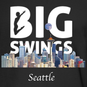 Seattle Skyline Big Swings Logo - Men's Long Sleeve T-Shirt