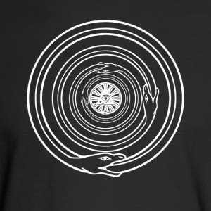 All-Seeing Eye with Ouroboros Spiral - Men's Long Sleeve T-Shirt
