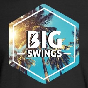 Big Swings Palm Tree Logo Design - Men's Long Sleeve T-Shirt