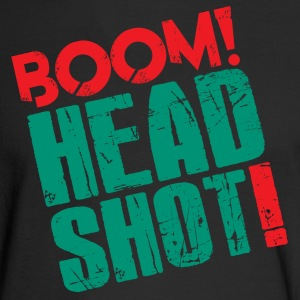 Boom Headshot! Red/Blue - Men's Long Sleeve T-Shirt