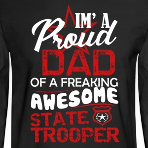 State Trooper Dad Shirt - Men's Long Sleeve T-Shirt