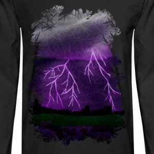Purple Lightning Scene - Men's Long Sleeve T-Shirt