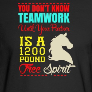 You don't know teamwork until your partner - Men's Long Sleeve T-Shirt