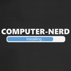 Installing Computer Nerd (1016) - Men's Long Sleeve T-Shirt