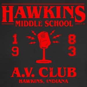 Hawkins Middle School A - Men's Long Sleeve T-Shirt