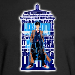 Typograph Phonebooth with Doctor - Men's Long Sleeve T-Shirt