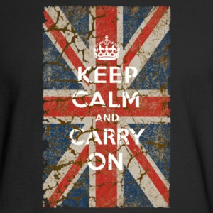 UK Flag and Keep Calm Hybrid - Men's Long Sleeve T-Shirt