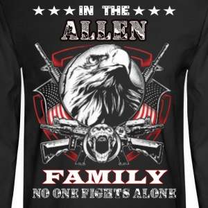 ALLEN Personalized Family Shirts - Men's Long Sleeve T-Shirt